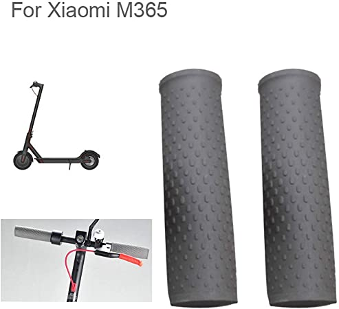 1 Pair Rubber Handle Bar Grip For Xiaomi Mijia M365 Electric Scooter Bicycle #