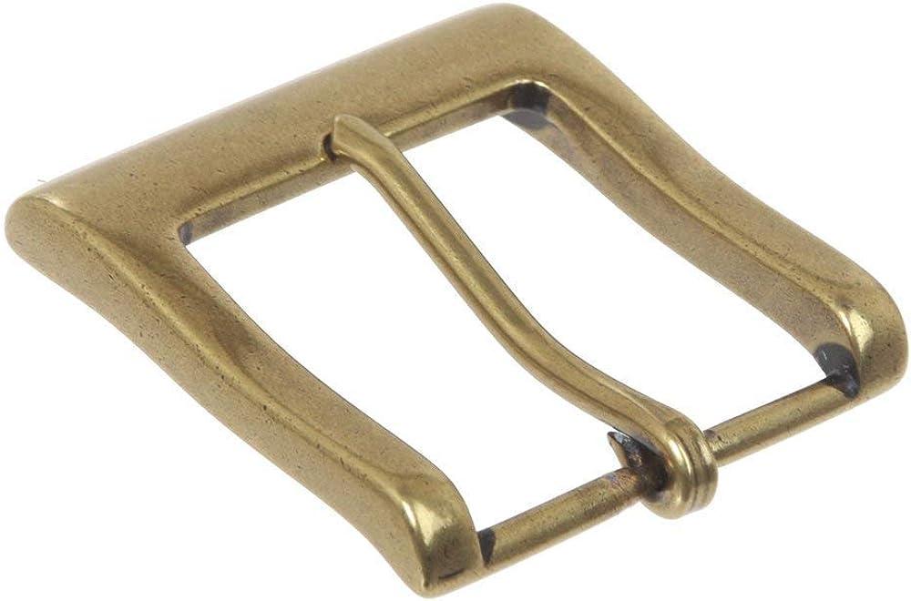 MONIQUE Men Nickel Free Single Prong Square 1.5 Belt Replacement Buckle