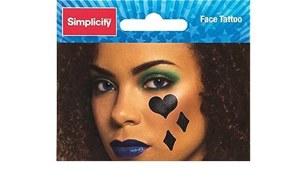 Simplicity Wrights Tatuaje Facial (8,9 x 5,7 cm), diseño de ...