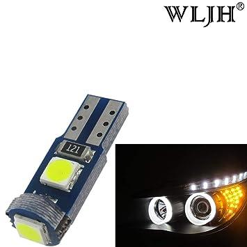 WLJH Paquete de 50 bombillas LED T5 de 6000 K blanco de 1,5 ...