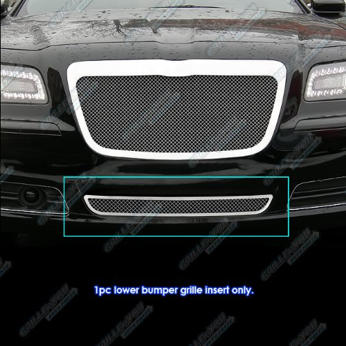 APS Compatible with 2011-2014 Chrysler 300 300C Bumper Stainless Steel Mesh Grille Grill S18-R10367R