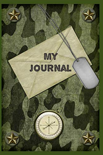 My Journal: Military Camo Blank A5 Journal for Men (Peachy Keen Blank Books and Journals)