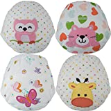 Toddler Potty Training Pants / Underwear - Water-Resistent  3 Absorbent Layers  Best Quality  Soft Cotton   Machine Washable   Cute Designs For Your Baby   (Girls Large-Owl/Cat/Butterfly/Giraffe)
