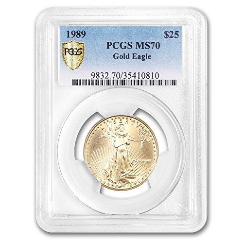 1989 1/2 oz Gold American Eagle MS-70 PCGS 1/2 OZ MS-70 PCGS