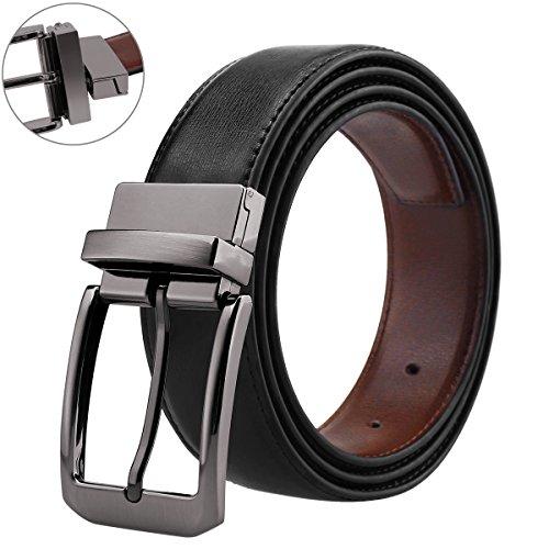 - Belts for Men Genuine Leather Dress Belt Reversible with 1.3