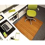 Bamboo Tri-Fold Plush Chairmat, 47   x 60  , no lip
