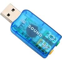 Conector Adaptador Placa Som 5.1 Canais USB DJ Surround Plug Play