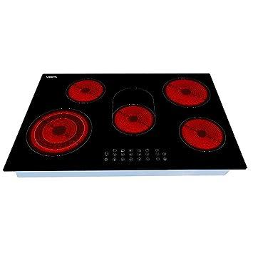 Viesta C5Z - Placa de cocina vitrocerámica, con protección contra el sobrecalentamiento, 8500W,