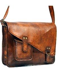 HIDE 1858 TM Vintage Style Real Leather Messenger Bag/ Breifcase