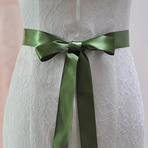 Azaleas Belts Belt Dress Bridal Wedding for Green Women's Sashes Diamond Wedding Sash I6xwCn64rq