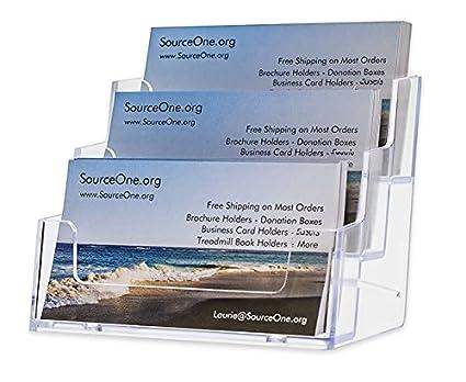 Amazon sourceone 3 pocket premium clear acrylic business card sourceone 3 pocket premium clear acrylic business card holder xdeep3pclrbc colourmoves
