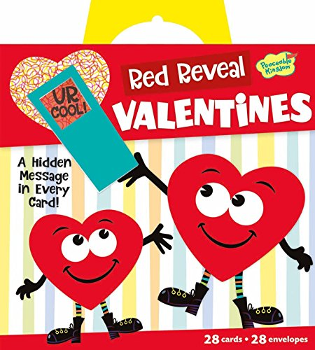 Peaceable Kingdom Red Reveal Happy Riddle Super Valentine Card