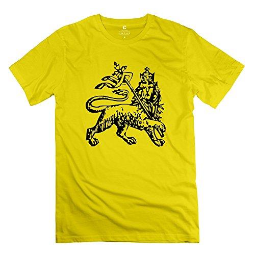 RenHe Men's Custom Vintage Lion Judah T-shirts