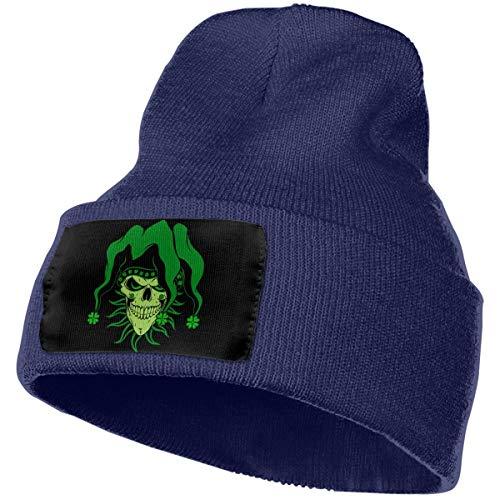 NGFF Women & Men Irish Jester Skull Winter Warm Beanie Hats Stretch Skull Ski Knit Hat Cap - Jester Ski Hat