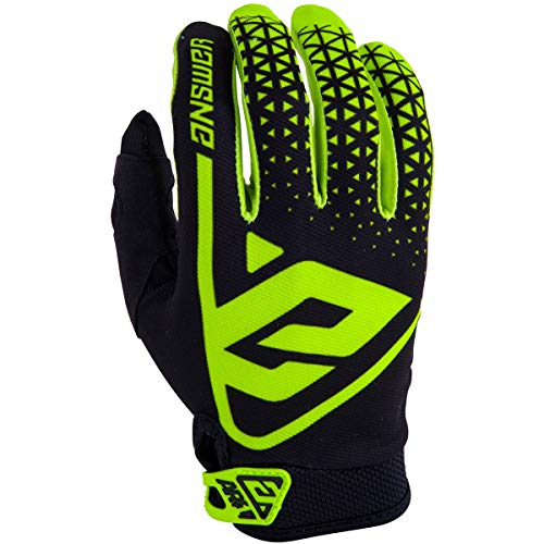 (Answer Racing Ar1 Youth Boys Off-Road Motorcycle Gloves - Hyper Acid/Black/Medium)