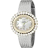 Burgi Women's BUR075SSG Analog Display Japanese Quartz Silver Watch