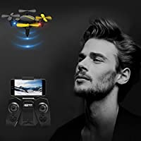with camera DZT1968 Indoor&outdoor Foldable 0.3MP Camera Drone RC Mini Wifi 360° Quadcopter 2.4GHz 4CH 6-Axis Gyro 3D flips UFO FPV RC
