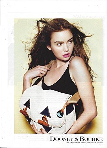 Toggle Bag (**PRINT AD** With Emma Roberts For 2009 Dooney & Bourke Black & Cream Toggle Bag **PRINT AD**)