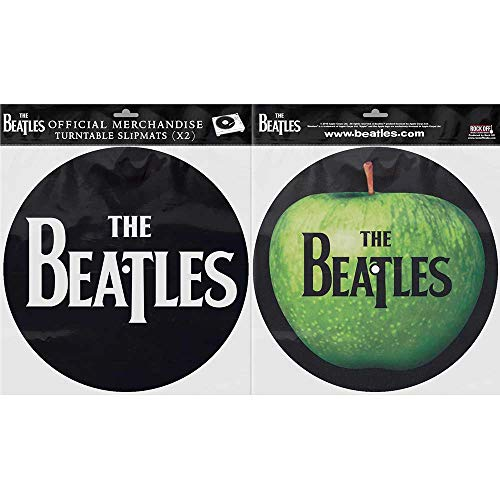 Beatles Apple Logo/Drop T Solid Logo Turntable Slipmats ()