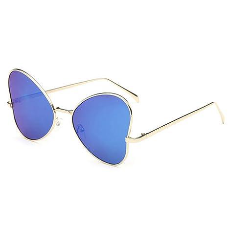 AISI unisex metal Frame occhiali da sole carino a forma di cuore design lente esterna occhiali da vista, Blue