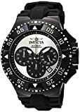 Invicta Men's 'Excursion' Quartz Stainless Steel and Silicone Casual Watch, Color:Black (Model: 23040)