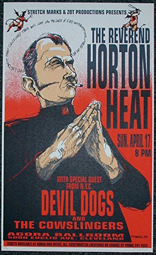 1994 Reverend Horton Heat (94-10) Concert Poster by Derek Hess