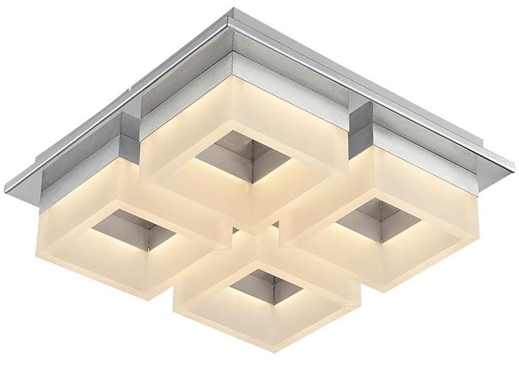 LED Deckenleuchte 32 Watt Beleuchtung Chrom Deckenlampe Wohnzimmer Esto Rita 740038 4