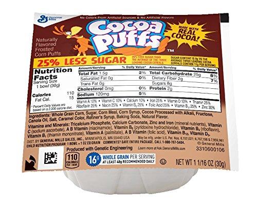 Cocoa Puffs 25% Less Sugar Bowlpak Cereal, 96 ()