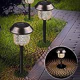 Xddias Pack of 6 Solar Lights Garden Stainless Steel Solar Lamp Lantern Outdoor Light Waterproof...