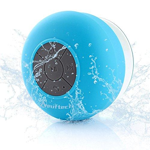 Neuftech Altavoz Bluetooth 3.0 Impermeable Sonido estéreo con Ventosa para Ducha Piscina etc,Azul