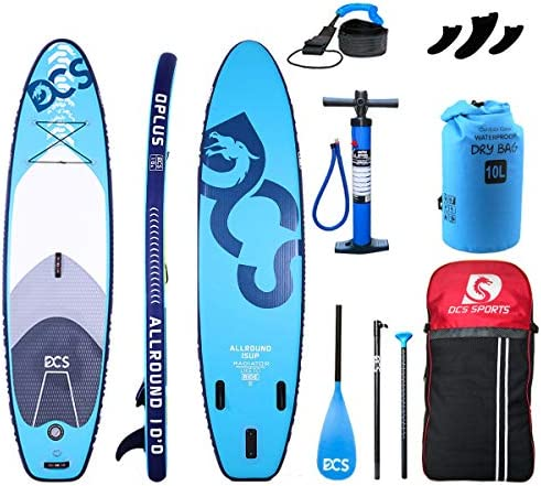 Airgymfactory DCS Inflatable Stand Up Paddle Boards Premium SUP Accessories Carbon Fiber Adjustable Paddle Waterproof Bag Inflation and Deflation Double Action Bravo Pump 10 10 6 12 6 x32 x6