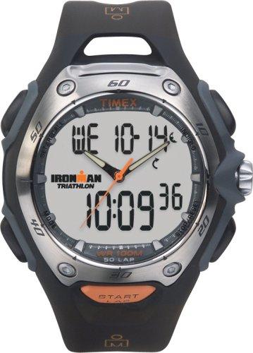 Timex Sports T5E361 - Reloj analógico - digital de caballero de cuarzo con correa de goma