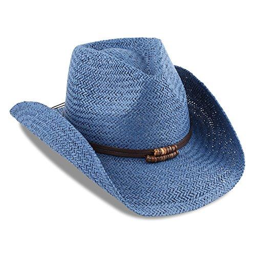 Men & Women's Summer Cowboy Straw Hat (Denim Cowboy Hat)