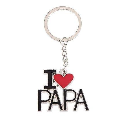 Amo A La Papá Llaveros Llavero del Llavero Hogar del Coche ...