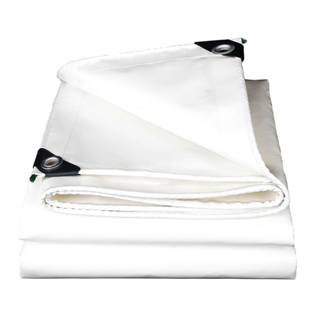 Tarpaulin HUO Wasserdichte Plane, Haltbares Sonnenschutz-Linoleum, Bodenplane-Abdeckungen Für Kampierende Gartenhaustiere (Farbe   Weiß, größe   2  4m)