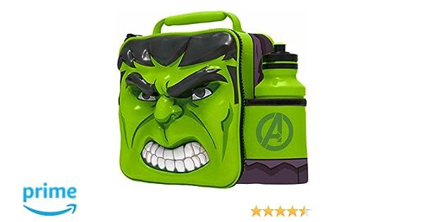Boyz Toys Marvel Hulk - Bolsa Térmica en 3D para el Almuerzo con Botella Deportiva: Amazon.es: Hogar
