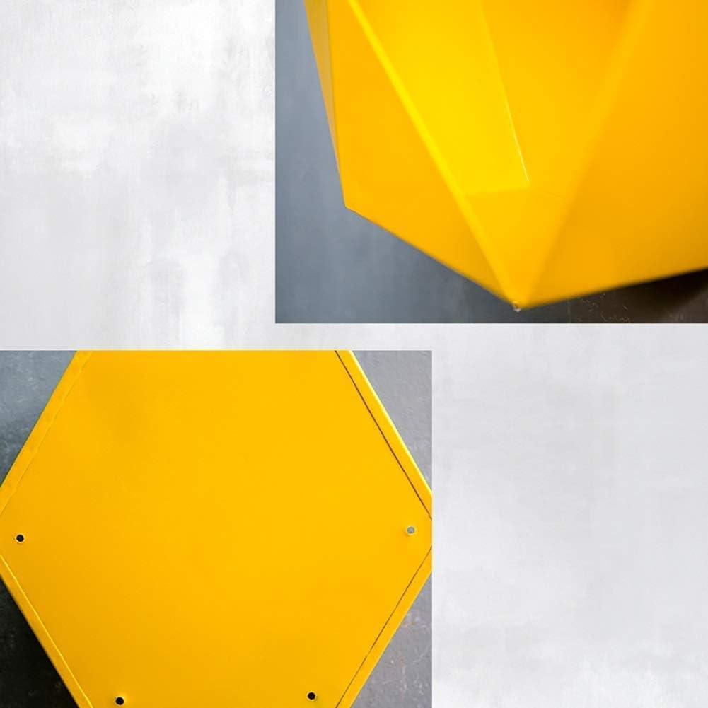 NMDD Organizadores de exhibici/ón de Almacenamiento de Estante Flotante montado en la Pared Decoraci/ón de Metal Hex/ágono Simple 4 Colores 3 tama/ños Color: MARR/ÓN, Tama/ño: 25x12x25cm
