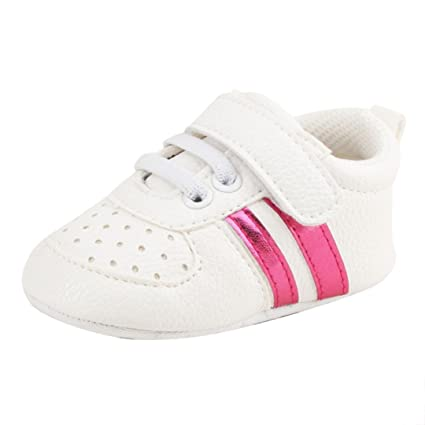 5d8c9292c6807 Toddler Girls Boy  s Crib Leather Shoes Prewalker Soft Sole Lace-up Sneakers