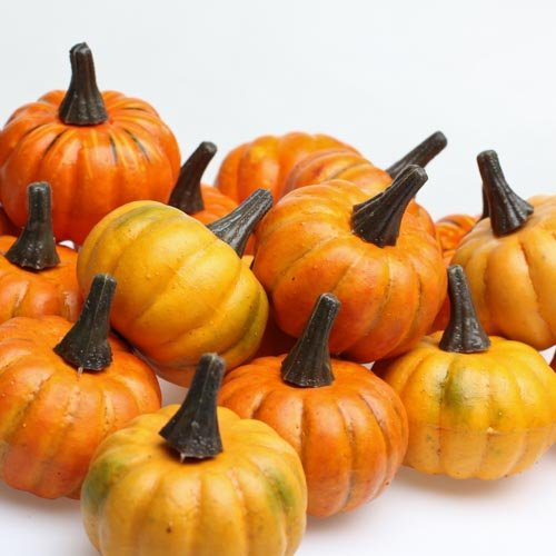 Factory Direct Craft Realistic Fall Mini Artificial Pumpkins - Package of 16 Pumpkins -