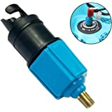 PeSandy Inflatable SUP Pump Adaptor Compressor Air Valve Converter, Inflatable Boat Air Valve Adapter Standard Schrader Conventional Air Pump Adapter for Stand Up Paddle Board, Halkey Roberts, Dinghy