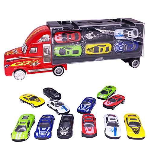 vinmax Truck Sets Alloy Transport Car Carrier Toys 13 Pcs / Set Children Birthday New Years Gaming Play Toys Gifts by vinmax (Image #9)