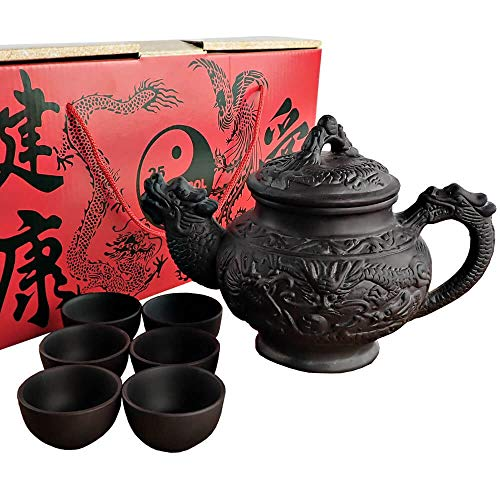 dragon teapot set - 4