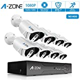Security Camera System, A-ZONE Security 1080p 8 Channel PoE...