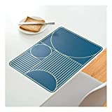 HaloVa Placemat, Quality PP Table Mat, Heat-Resistant Easy to Wash No Toxic Stain Resistant Table Place Mat, Perfect Decor Home Hotel Office Dining Table, Dark Blue