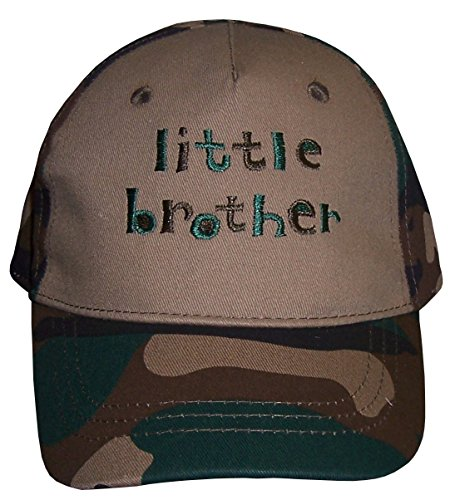 N'Ice Caps Baby Boys Cute Embroidered Ball Caps (12-18 Months, Little Brother/Green ()