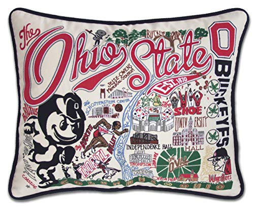catstudio- Ohio State University Embroidered Throw Pillow - 16