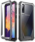 Poetic Guardian Series Case Designed for Samsung Galaxy A50/A50s Case, Full-Body Hybrid Shockproof Bumper Cover with Built-in-Screen Protector, Black/Clear