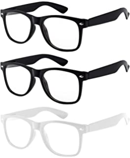 62041f1b7ab OWL - Non Prescription Glasses for Women and Men - Clear Lens - UV  Protection
