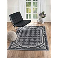 NEW Summit Elite S68 Grey Harlequin modern abstract Area Rug (22 inch x 7 foot long runner)