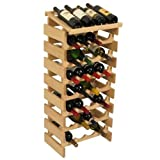 28-Bottles Solid Oak Wine Rack